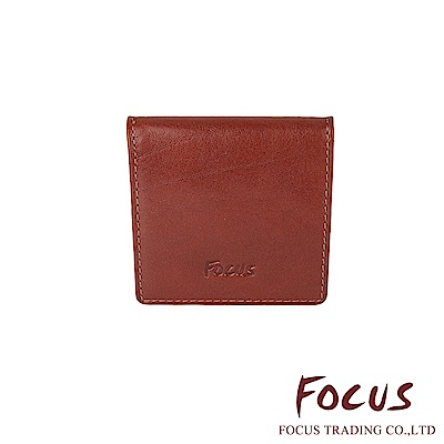 FOCUS 原皮-文創手作系列 簡單壓扣式錢包