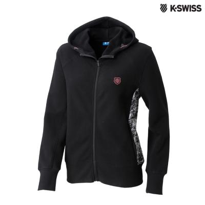 K-SWISS Fleece Jacket休閒連帽外套-女-黑