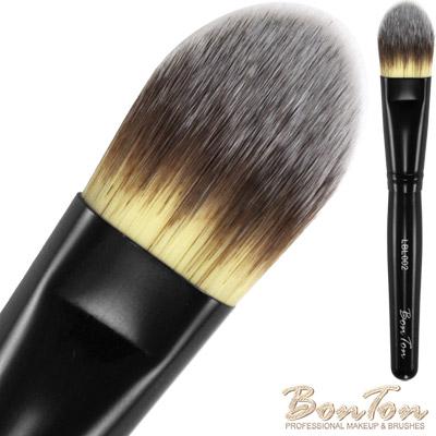 BonTon 墨黑系列 扁粉底刷(大) LBL002 三色纖維直毛