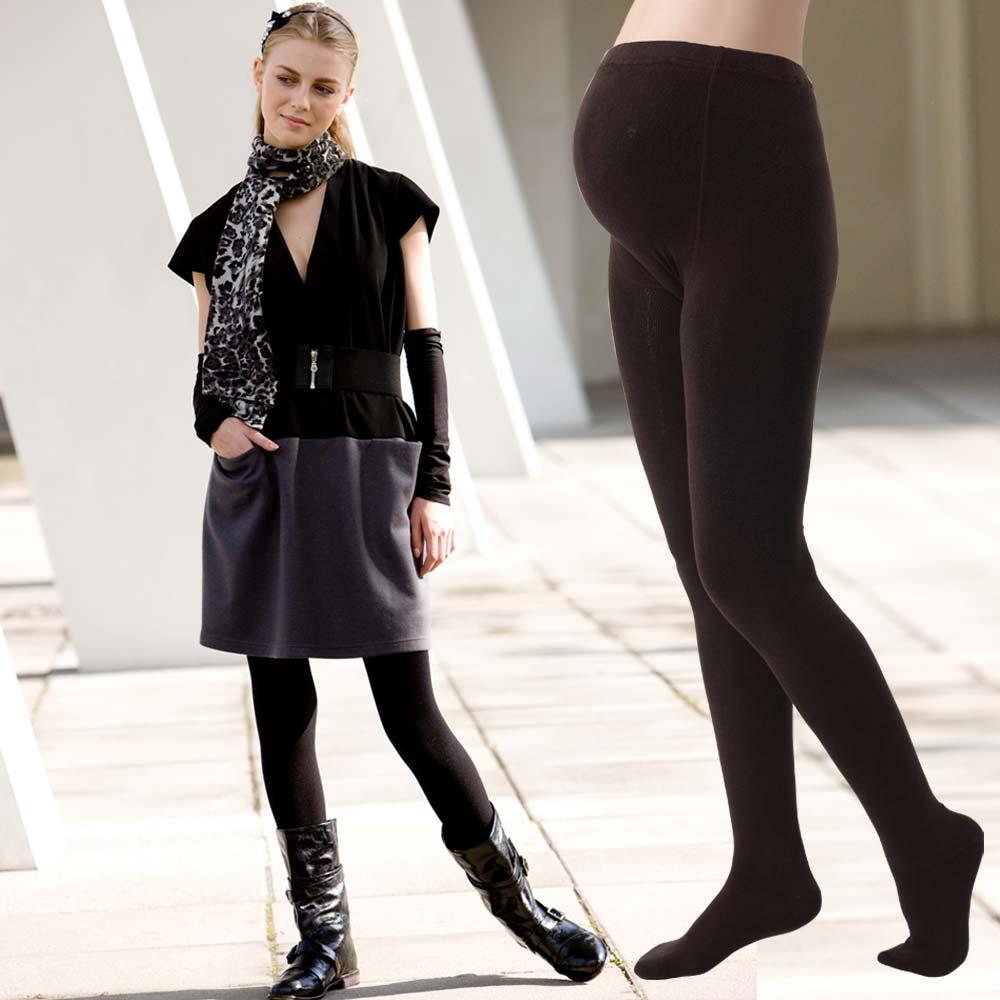 【Gennie's奇妮】厚棉彈性褲襪‧孕婦專用