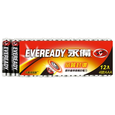 永備 碳鋅電池  4 號(AAA) 12 入