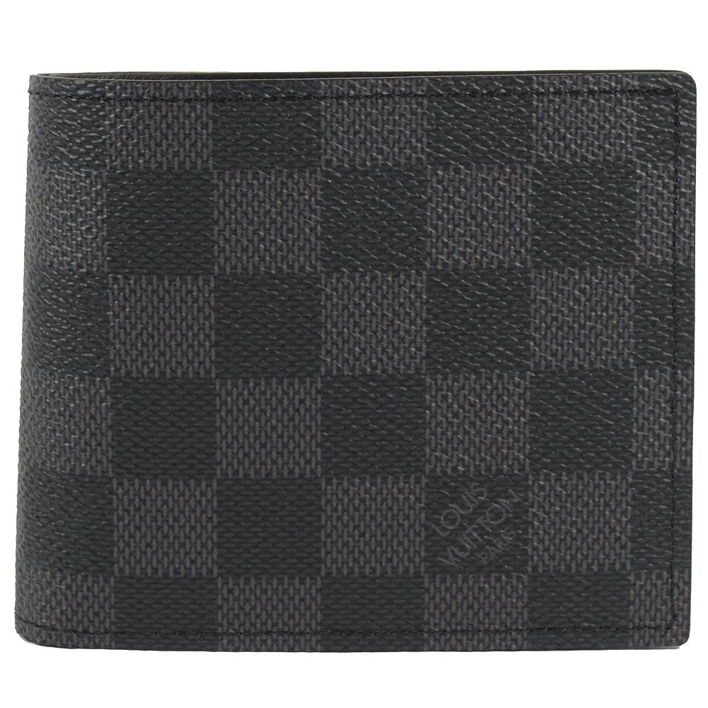 LV N63336 Marco 黑灰格紋零錢短夾