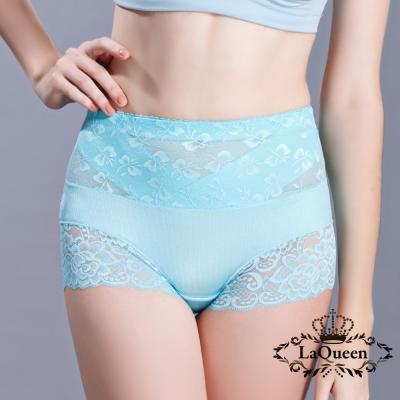 塑褲  v型加壓平腹高腰蠶輕塑褲-天藍 La Queen