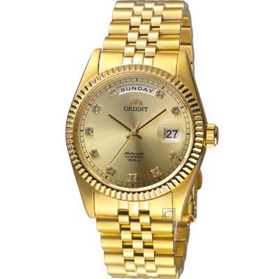 ORIENT東方錶 WILD CALENDAR系列機械錶-金色/36mm