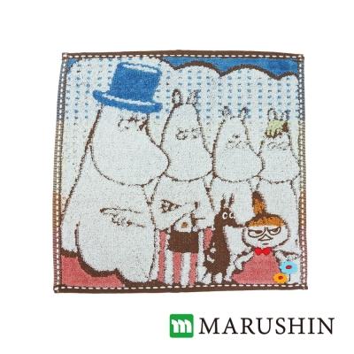日本丸真Moomin刺繡方巾-家庭