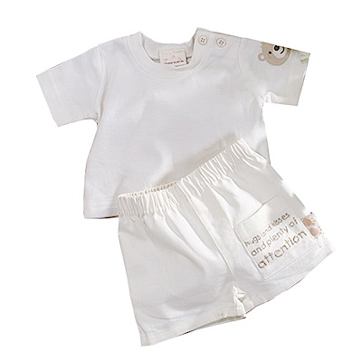 小熊短袖套裝  k50684 魔法Baby