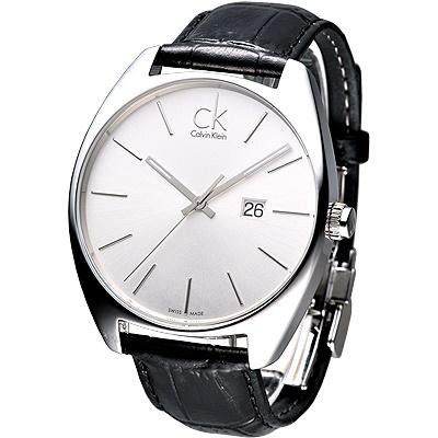 cK Exchange時尚名仕大錶徑腕錶-白44mm
