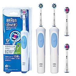 德國百靈歐樂B活力美白電動牙刷D12.W(2入超值組)