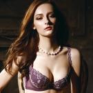 La Felino - 夢迴威尼斯3/4絲棉剪接款B-E罩杯內衣 (奢華紫)