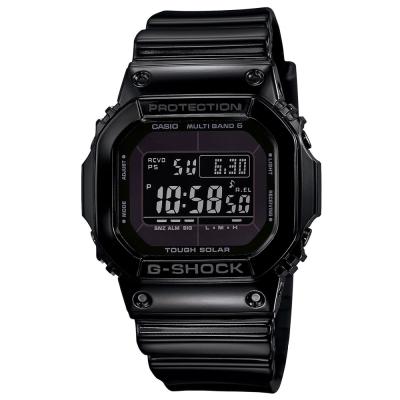 G-SHOCK 亮眼新色經典再現設計休閒電波錶(GW-M5610BB-1A)-酷黑/43.2mm