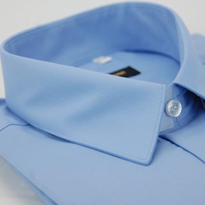 金‧安德森 藍色窄版長袖襯衫fast