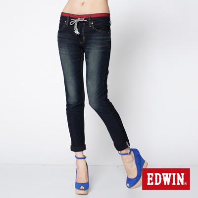 EDWIN革命性-503迦績褲-JERSEYS圓織牛仔褲-女款-酵洗藍