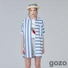 gozo 搖滾生活風長版襯衫 (二色)-動態show