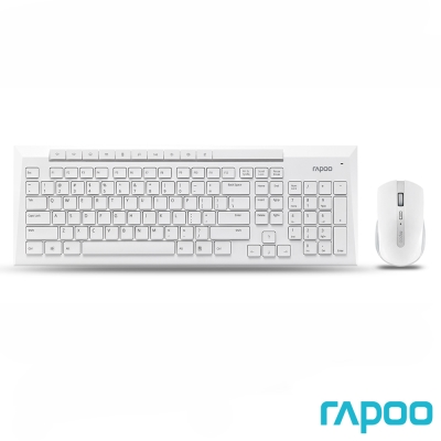 Rapoo 雷柏8200P 無線光學鍵鼠組-白