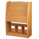 柚木色階梯雜誌架/木製雜誌架/雜誌收納架/調整式收納架