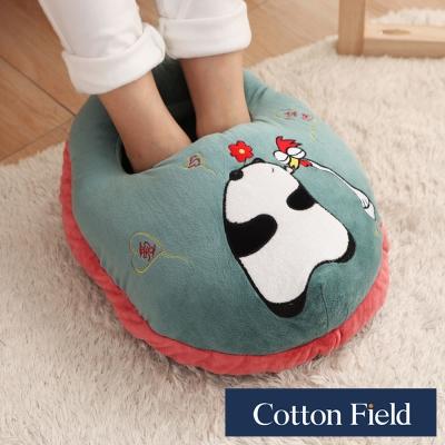棉花田 貓熊 超柔貼布刺繡暖腳枕