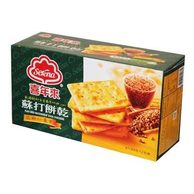 喜年來-蘇打餅乾亞麻仁口味-207gx3盒