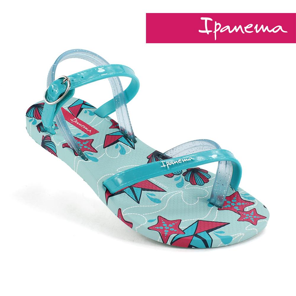 IPANEMA 時尚夏季休閒涼鞋-湖水綠/藍色