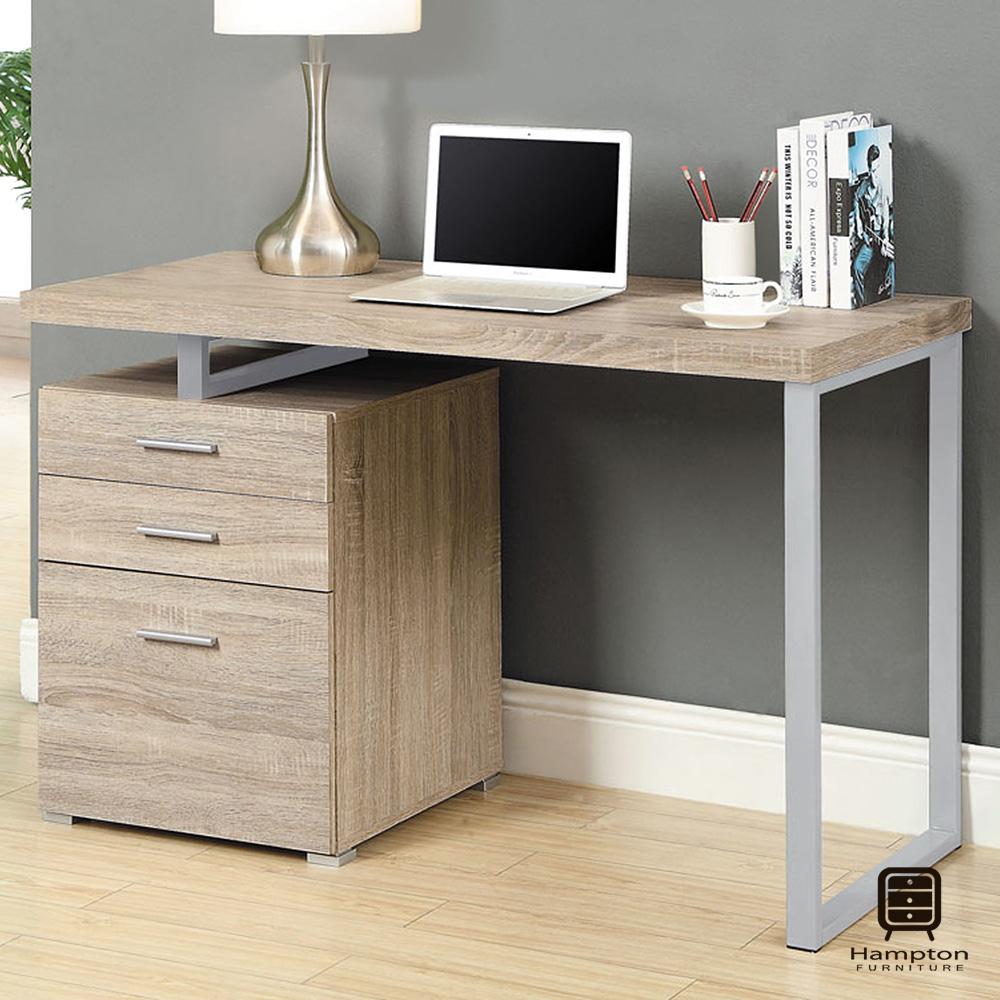 漢妮Hampton尼爾系列摩登電腦書桌(淺木色)-120x60x76cm