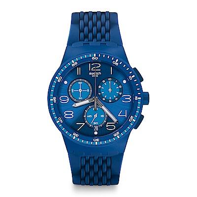 Swatch 就是SWATCH TRIPLE BLU 三倍深藍手錶