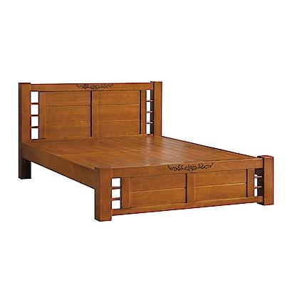 品家居 杜達6尺實木雙人加大床片床架組合-185x208.5x98cm免組