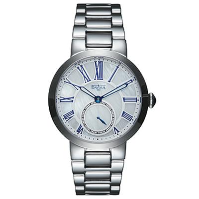 DAVOSA Calypso 小秒針時尚腕錶-白珍珠貝/35mm