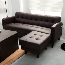 日安家居 Connie唐妮L型沙發三人+腳椅 多色