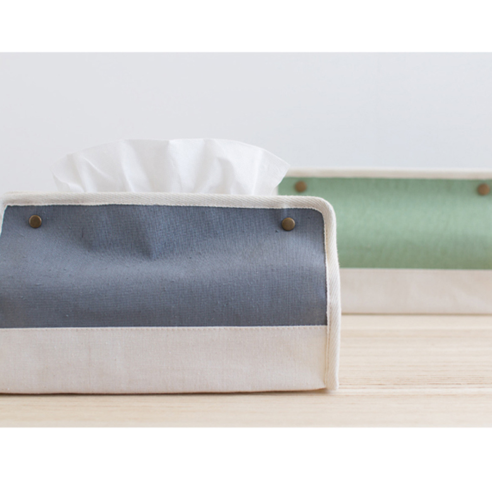 [自然樂居]帆布面紙盒套(三入)
