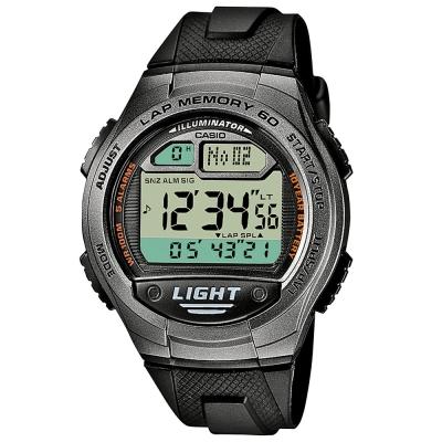 CASIO 世紀戰魂電子推動錶(W-734-1A)-黑42.4mm