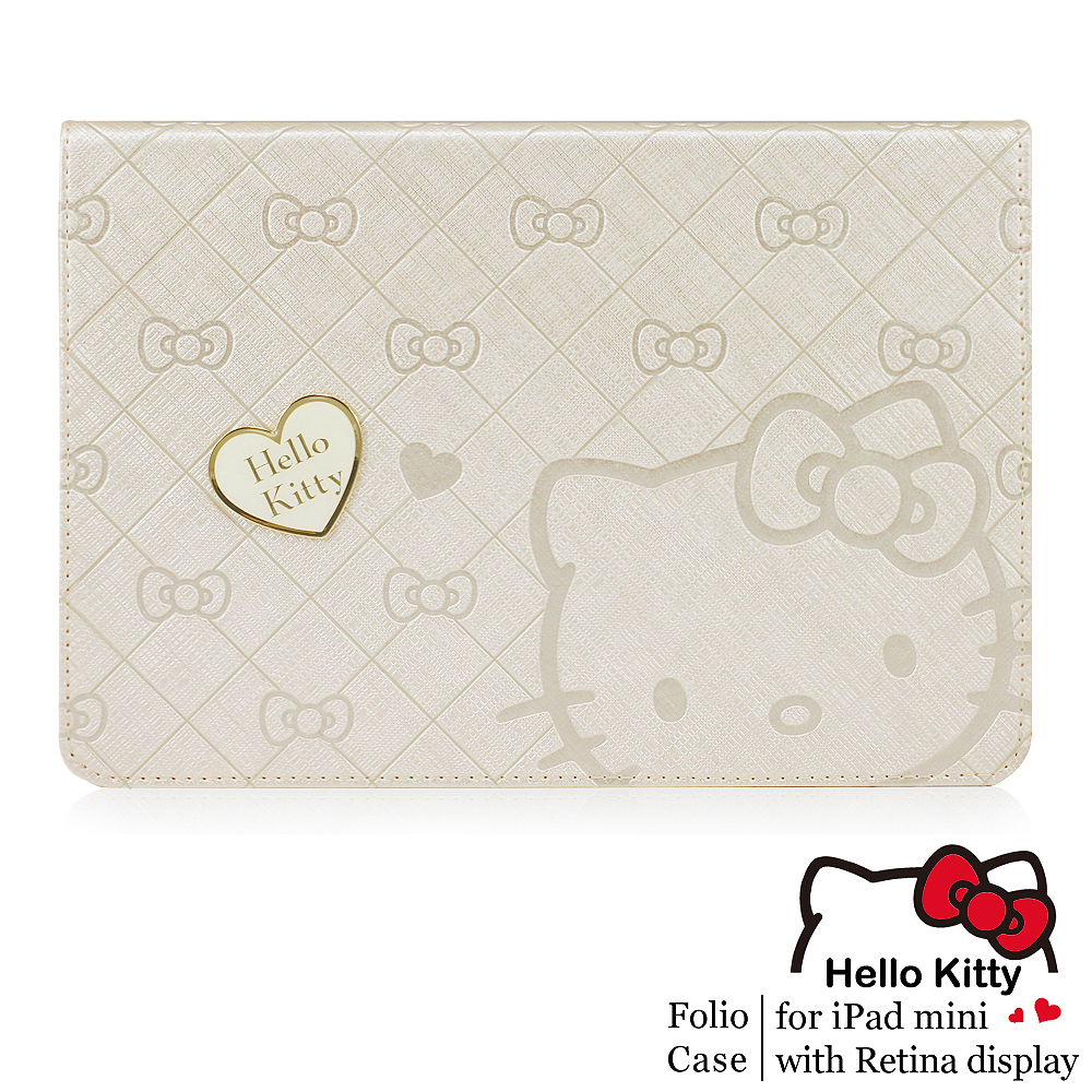 GARMMA Hello Kitty iPad Mini2 Retina摺疊式皮套–寵愛金