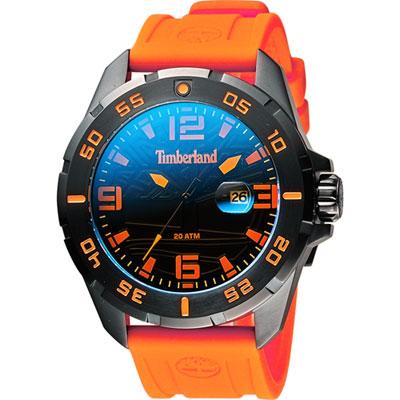 Timberland Waterville 探險家時尚腕錶-炫彩x橘/48mm
