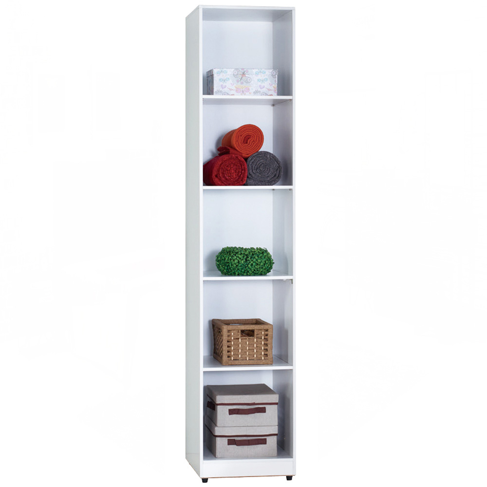 AT HOME - 凱倫1.3尺白色開放隔板衣櫃 40x52x197cm