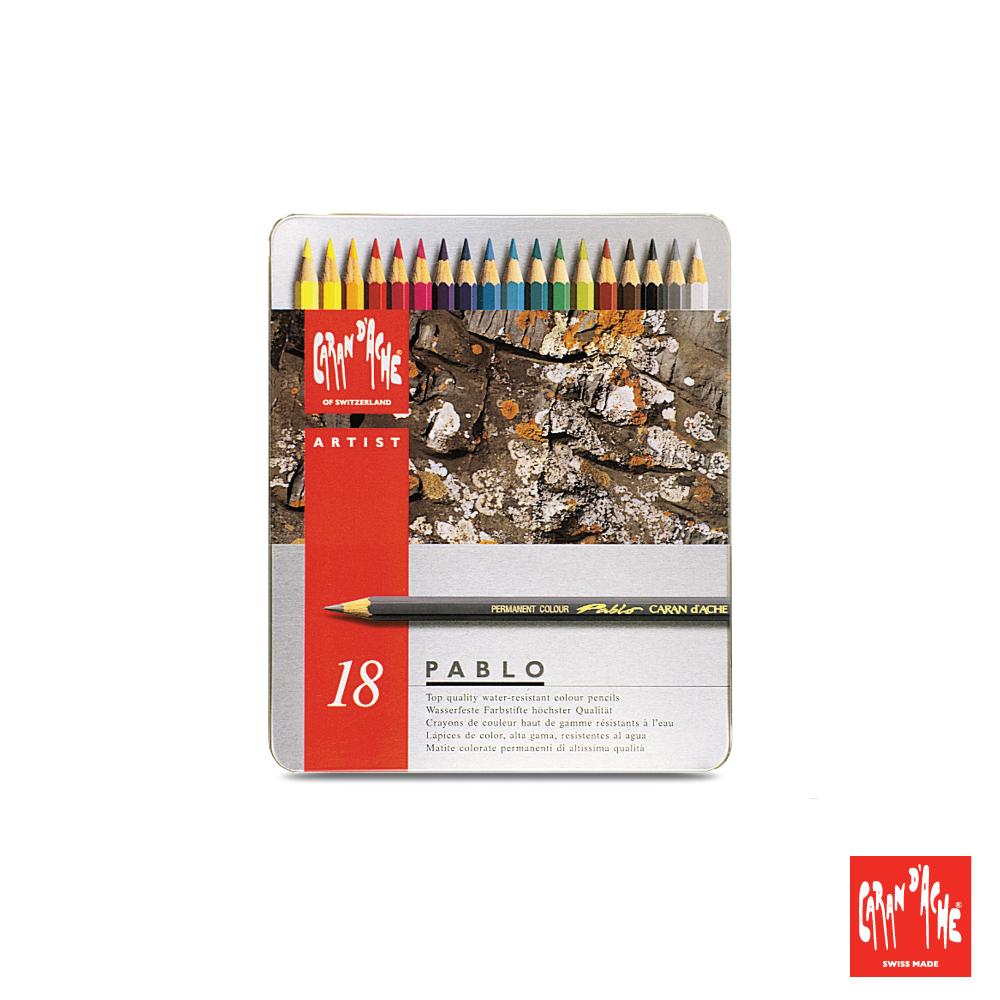 CARAN d'ACHE 卡達 - 專業系列 油性色鉛筆18色