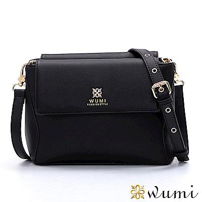 WuMi 無米 葛蒂絲美型雙層斜背包  經典黑