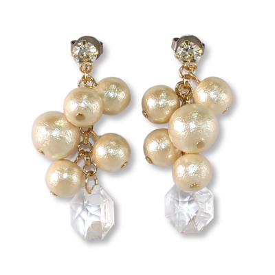 CARUTINA Grape系列棉珍珠葡萄耳環