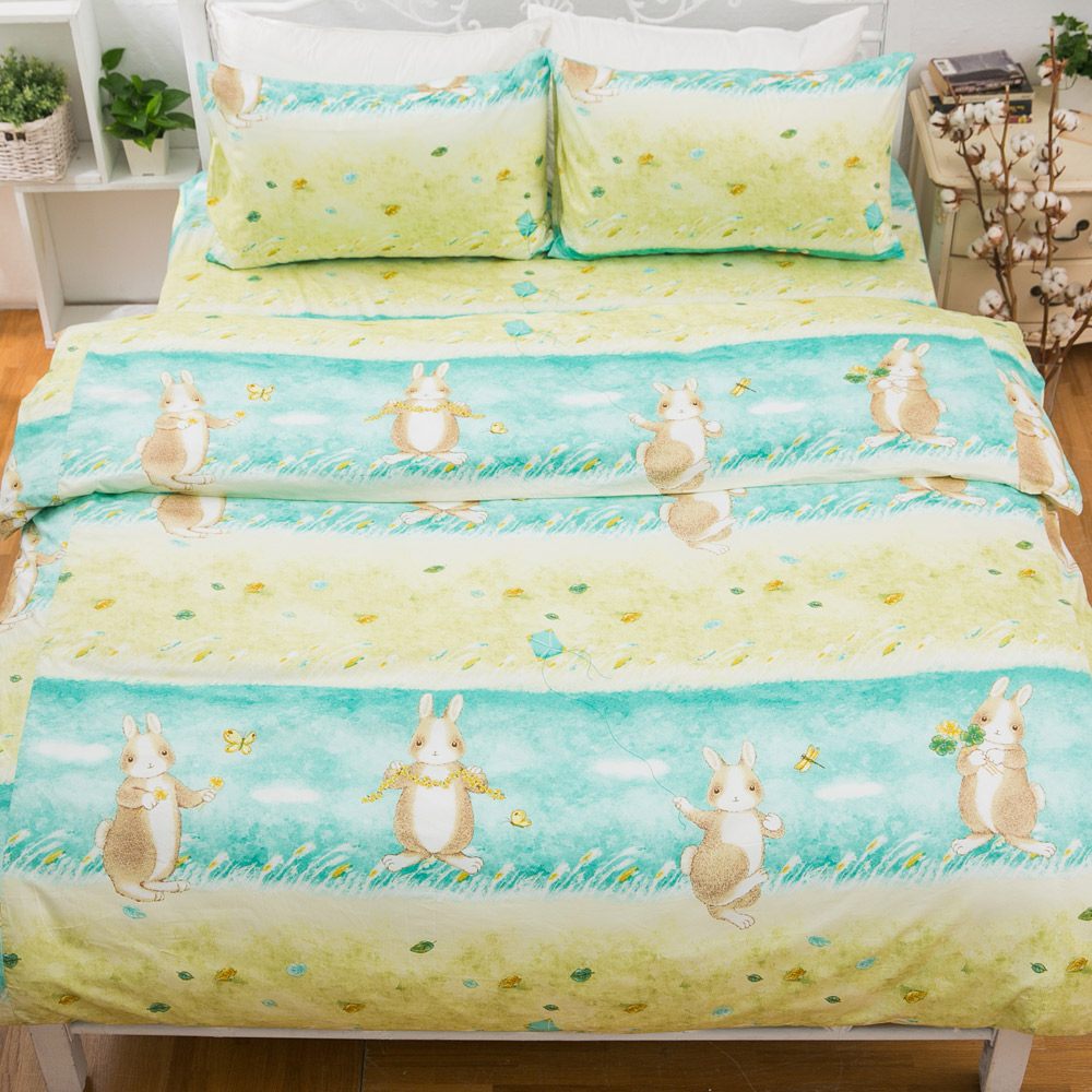kokomos扣扣馬 鎮瀾宮大甲媽授權精梳棉205織紗新式雙人兩用被 兔子湯姆