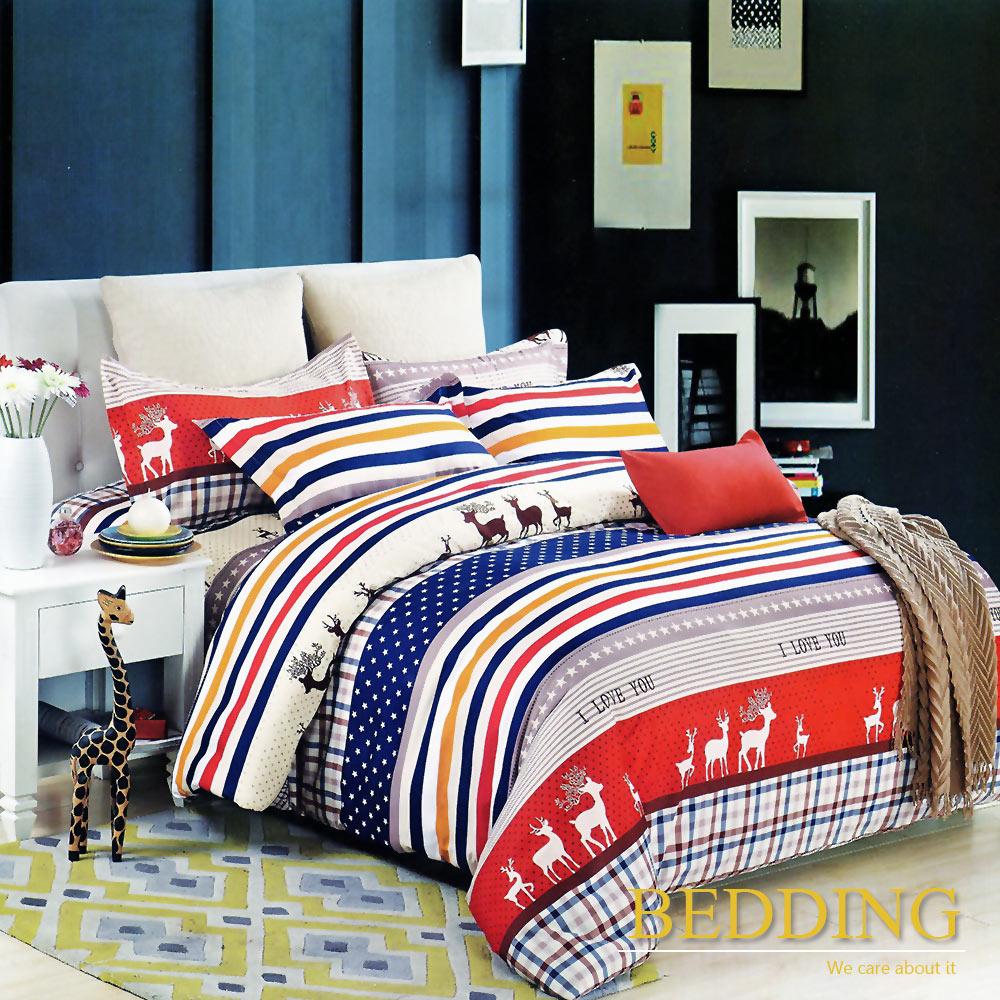 BEDDING  活性印染 雙人床包涼被組 皇家風情