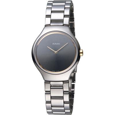 RADO 雷達 True Thinline 超薄高科技陶瓷腕錶-灰/29mm