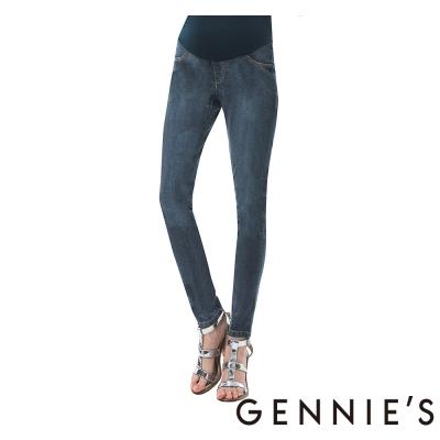 Gennies奇妮-一體成型托腹牛仔褲 (T4B04藍)