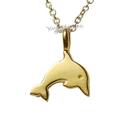 Dogeared美國品牌Reminder金色許願項鍊-海豚