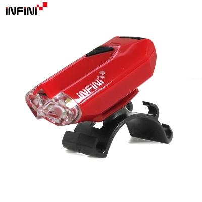 【INFINI】LAVA I-260W 2白光LED警示高亮度4模式前燈-紅色