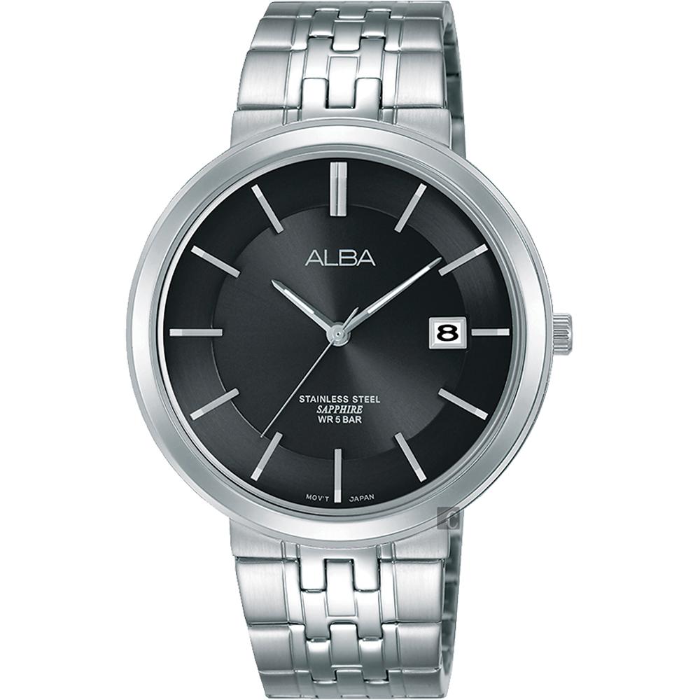 ALBA雅柏 都會時尚手錶(AS9D81X1)-黑/40mm