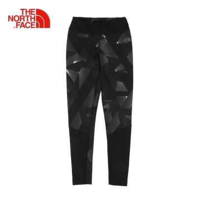 The North Face北面女款黑色吸濕排汗運動緊身褲
