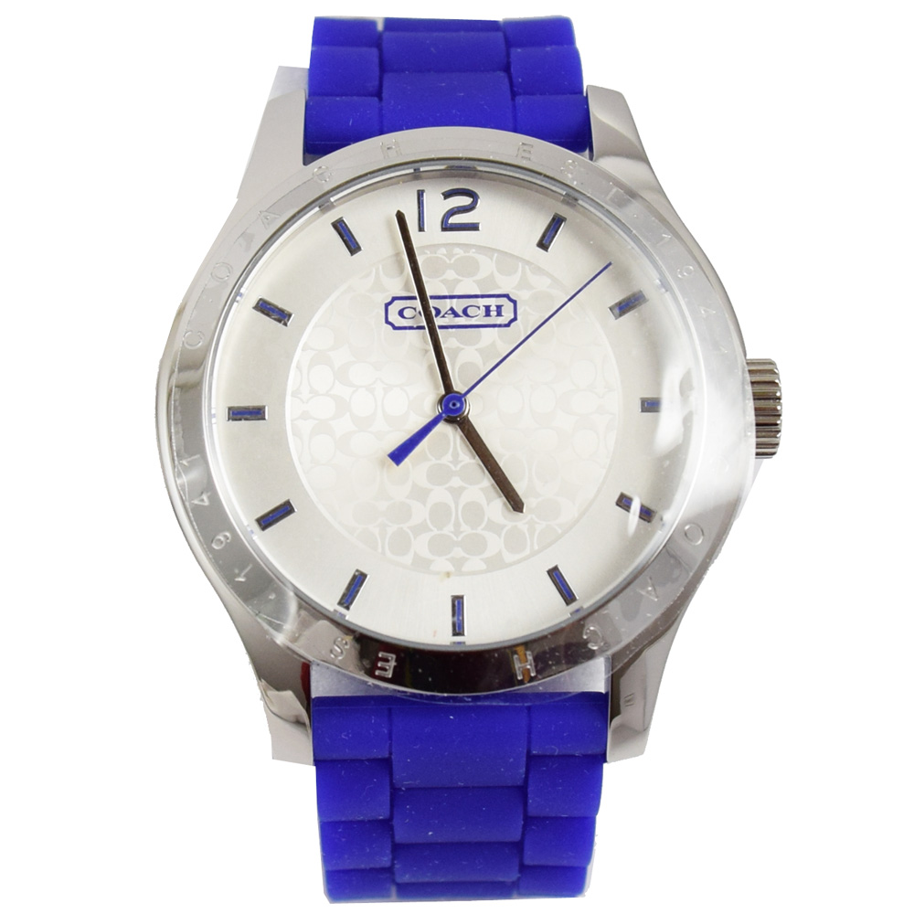 COACH Maddy 經典LOGO時尚腕錶.紫COACH