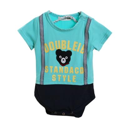 小黑熊短袖連身衣 k50264