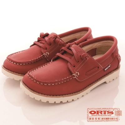 ORIS女款 真皮 超柔軟 休閒懶人鞋(紅SA17686N07