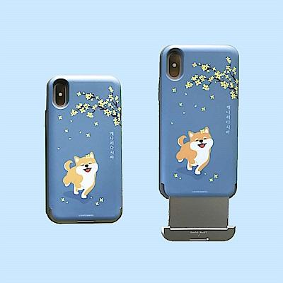 Shiro&Maro(灑花款)隨身帶卡片手機殼