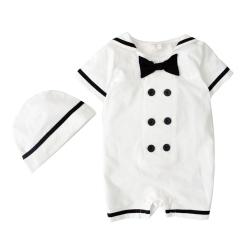 baby童衣 包屁衣 海軍領短袖連身衣 32016