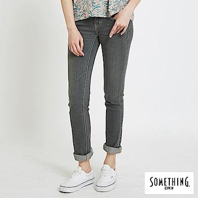 SOMETHING VIENUS釘鑽直筒牛仔褲-女-灰褐