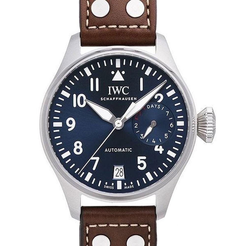 IWC 萬國錶 大型飛行員腕錶「小王子」特別版(IW500916)-夜藍x咖啡/46mm